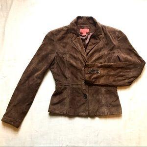 Brown suede blazer
